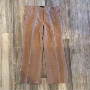 Talbots signature linen pants caramel wide leg 14